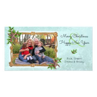 Cartão Natal náutico no respingo da estrela do mar da
