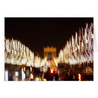Cartão Natal no Champs-Elysees em Paris
