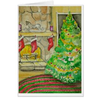 Cartão Natal no condado alto