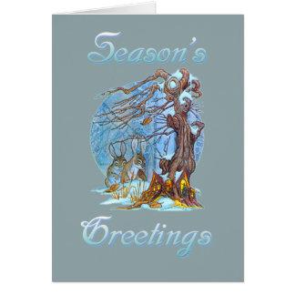 Cartão Natal no duende Salão