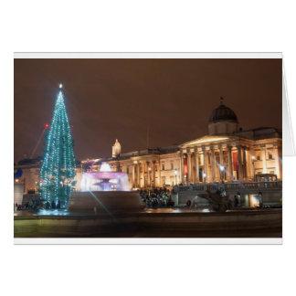 Cartão Natal no quadrado de Trafalgar, Londres