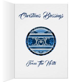 Cartão Natal norte nórdico