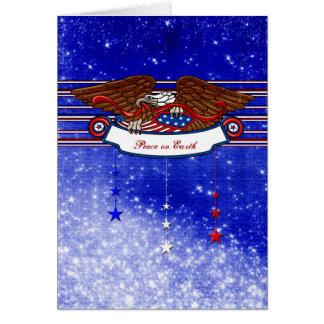 Cartão Natal para um soldado - paz na terra