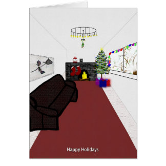 Cartão Natal pelo fogo