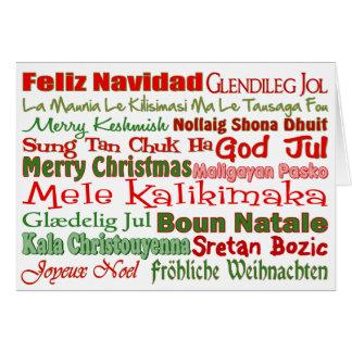 Cartão Natal pelo mundo inteiro