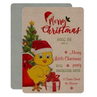 Cartão Natal pequeno da galinha do bebê