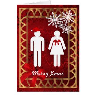 Cartão Natal personalizado Papai Noel engraçado