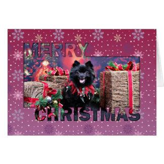 Cartão Natal - Pomeranian - Mazie