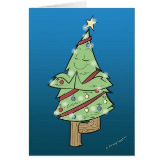 Cartão Natal - pose da árvore da ioga