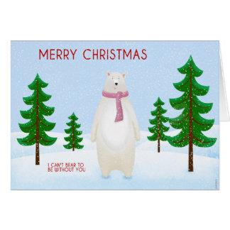 Cartão Natal que carrega