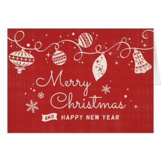 Cartão Natal retro alegre