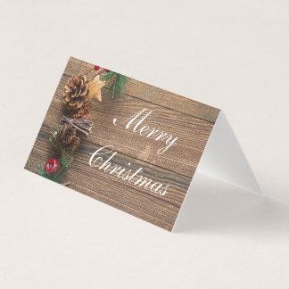 Cartão Natal rústico do país