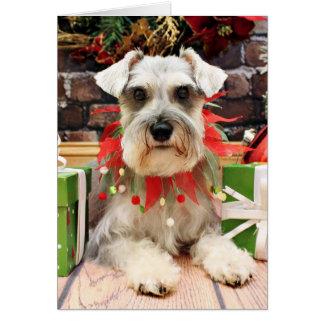Cartão Natal - Schnauzer - Abby