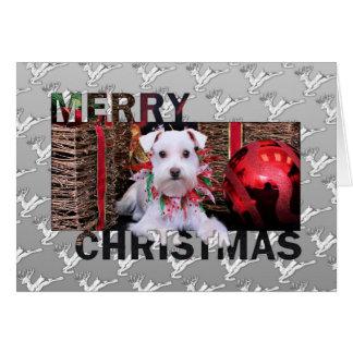Cartão Natal - Schnauzer - Emma