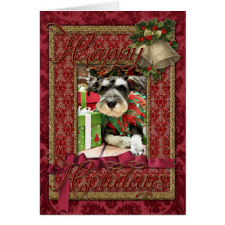 Cartão Natal - Schnauzer - Joey