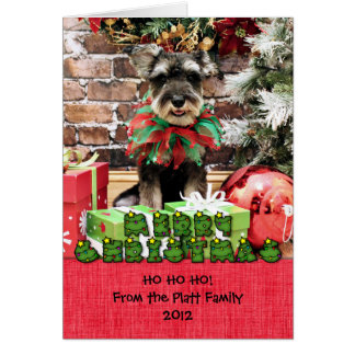 Cartão Natal - Schnauzer - Tom Dooley #2