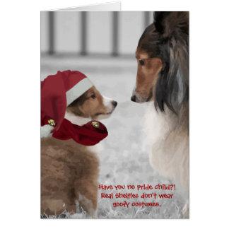 Cartão Natal Shelties