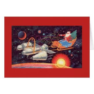 Cartão Natal soviético do papai noel