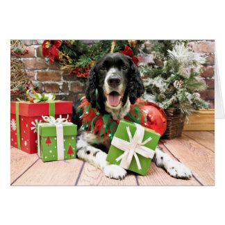 Cartão Natal - Spaniel de Springer inglês - Bosley