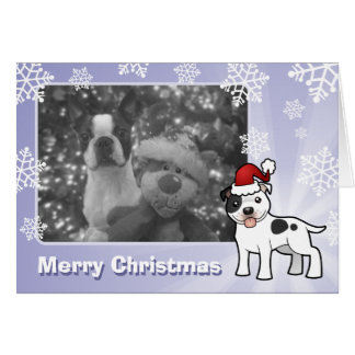 Cartão Natal Staffordshire bull terrier