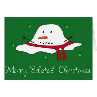 Cartão Natal tardivo alegre
