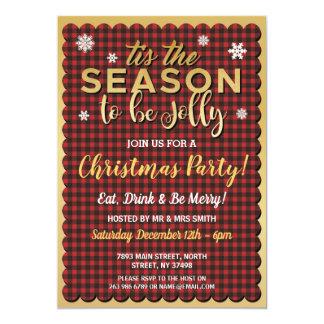 Cartão Natal Tis que o floco de neve vermelho do ouro da