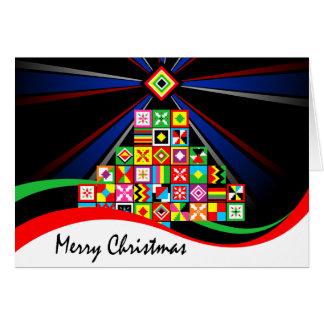 Cartão Natal tribal da arte africana do teste padrão de