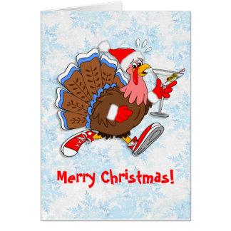 Cartão Natal Turquia Tipsy (Martini)