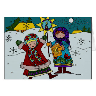 Cartão Natal ucraniano Carollers