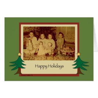 Cartão Natal velho 1958 da forma
