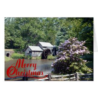 Cartão Natal velho do moinho