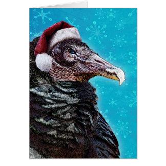 Cartão Natal velho irritadiço do Buzzard
