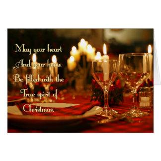 Cartão Natal verdadeiro do espírito