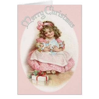 Cartão Natal vintage Cutie