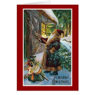 "Cartão ""Natal vintage do Feliz Natal"""