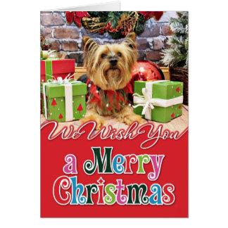 Cartão Natal - Yorkie - Chloe