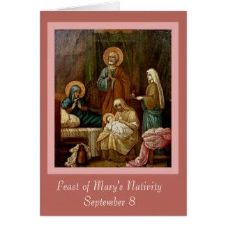 Cartão Natividade de St Anne Joachim da Virgem Maria
