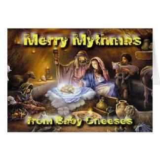 Cartão Natividade dos queijos