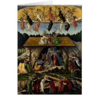 Cartão Natividade Mystical por Sandro Botticelli