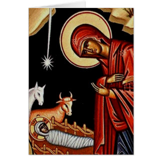 Cartão Natividade ortodoxo III