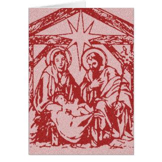 Cartão Natividade vermelha bonito