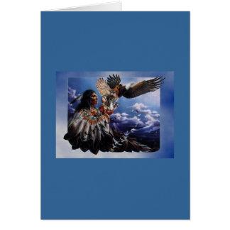 Cartão Nativo americano Eagle