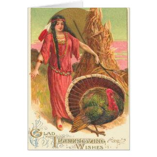 Cartão Nativo americano & Turquia