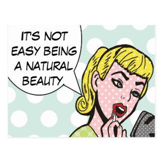 Cartão natural da banda desenhada da beleza