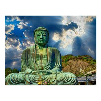 Cartão natural da estátua de Buddha