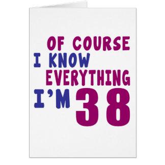 Cartão Naturalmente eu sei que tudo eu sou 38
