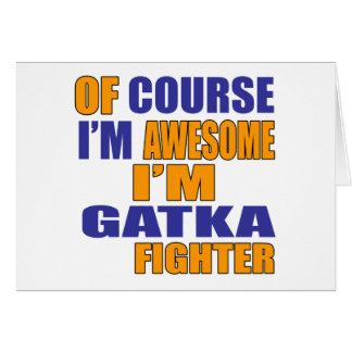 Cartão Naturalmente eu sou lutador de Gatka