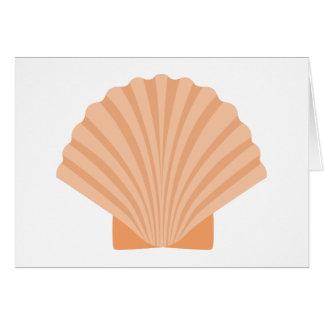 Cartão Náutico alaranjado do Seashell da praia -