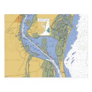 Cartão náutico da carta de Georgetown, South