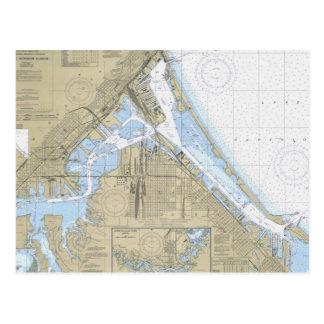 Cartão náutico da carta do porto de Duluth